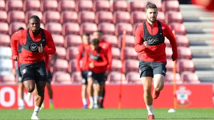 Michael Obafemi, left, and Shane Long both missed Saturday's 1-1 draw with Crystal Palace due to illness