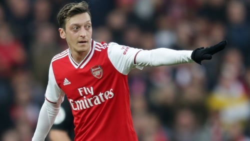 Mikel Arteta was impressed with Mesut Ozil's display against Chelsea