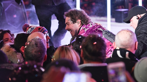 Post Malone gets huge new face tattoo on New Year's Eve