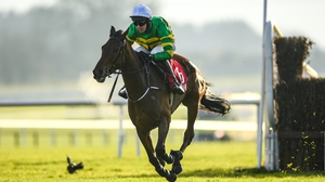 Fakir D'oudairies was beaten by Notebook in the Grade One Racing Post Novice Chase at Leopardstown