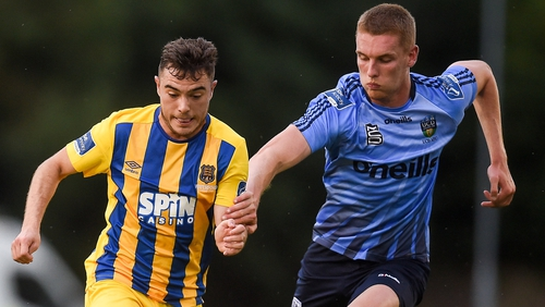 Cory Galvin (L) in action for Waterford