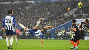 Alireza Jahanbakhsh scores Brighton's equaliser