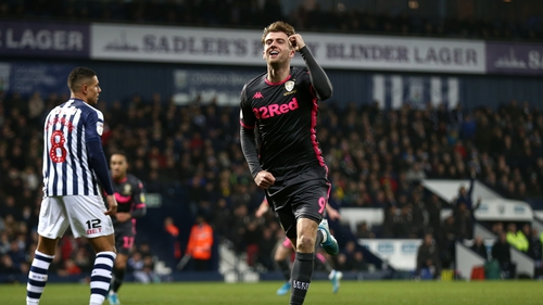 Substitute Patrick Bamford's header in the second half secured a point for Leeds away to West Brom