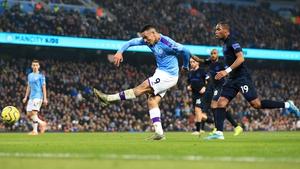Gabriel Jesus scored twice for City