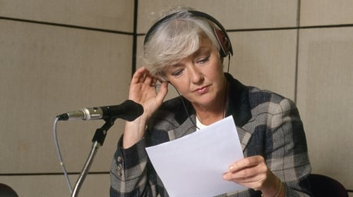 Marian Finucane in studio - she presented her weekend radio programme for nearly two decades