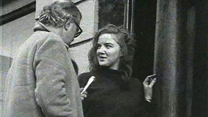 As a 19-year-old being interviewed by Wednesday Report's Patrick Gallagher during the student occupation of 45 St Stephen's Green East as part of the protest against the proposed demolition of Georgian houses in 1970