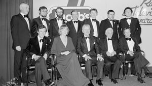 With her fellow Jacob's Award winners in April 1980