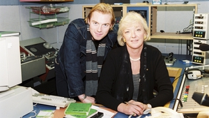 With guest Ronan Keating in studio in RTÉ Radio 1 in March 1998