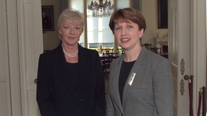 Meeting President Mary McAleese in Áras an Uachtaráin in November 2000 for an interview for her RTÉ Radio 1 show