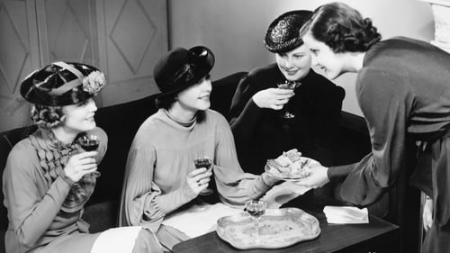"""""""The custom was that women made social calls to the homes of their friends and neighbours and enjoyed tea and the last of the Christmas cake"""". Photo: George Marks/Getty Images"""