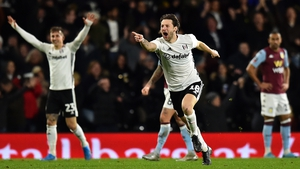 Harry Arter celebrates in style as his long-range effort knocked Villa out of the cup