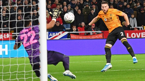 Mat Doherty in action for Wolves