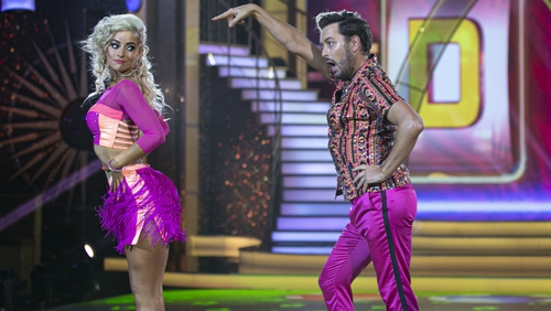 Brian with his dance partner Laura Nolan on last week's DWTS