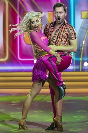 Television presenter Brian Dowling with partner Laura Nolan