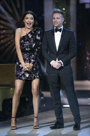 Presenters Jennifer Zamparelli and Nicky Byrne