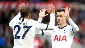 Lucas Moura equalised for Tottenham Hotspur