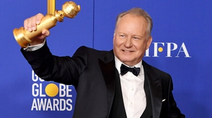 Stellan Skarsgard won the Best Performance by an Actor in a Supporting Role in a Series, Limited Series or Motion Picture Made for Television for Chernobyl and joked it was down to his eyebrows.