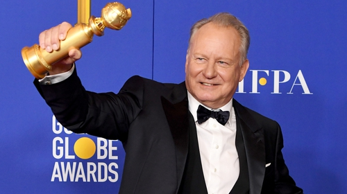 Stellan Skarsgard won the Best Performance by an Actor in a Supporting Role in a Series, Limited Series or Motion Picture Made for Televisionfor Chernobyl and joked it was down to his eyebrows.