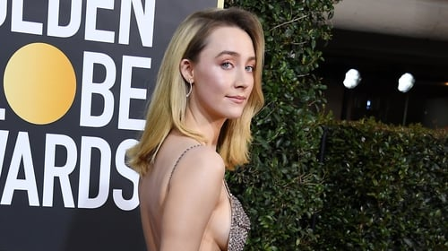 Saoirse Ronan glittered on the red carpet. Photo: Getty