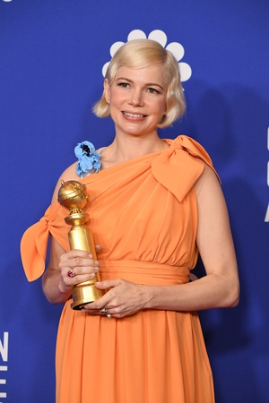 """Michelle Williams won the Best Performance by an Actress in a Limited Series or Motion Picture made for Television prize for Fosse/Verdon. She said:""""I am grateful to live in a moment in our society where choice exists."""""""