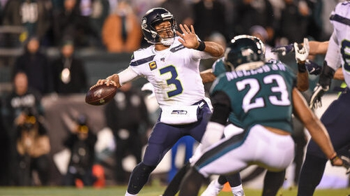 Russell Wilson was to the fore for Seattle