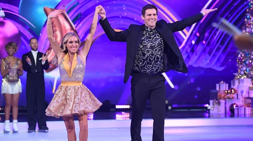 Brianne Delcourt and Kevin Kilbane pictured on Dancing on Ice last January