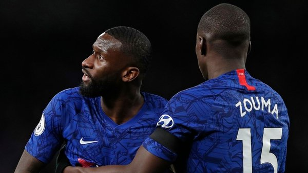 Rudiger (L) said he was subjected to monkey chants at the Tottenham Hotspur Stadium