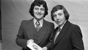 Larry Gogan and singer Joe Cuddy, 1972