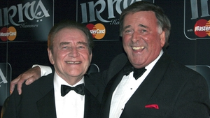 Terry Wogan and Larry Gogan at the 2005 IRMA Honours Awards