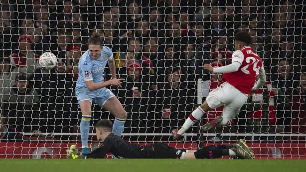 Reiss Nelson scores Arsenal's winner against Leeds