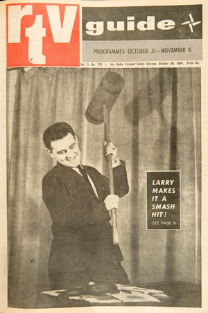 Larry Gogan on the front cover of the RTV Guide in October 1964