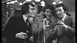 Brendan Balfe, Larry Gogan and Mike Murphy in 1974