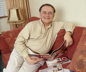 Larry Gogan at his home in Templeogue, County Dublin, in 2002