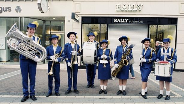 The Tallaght Festival Band, Grafton Street, Dublin (1990)