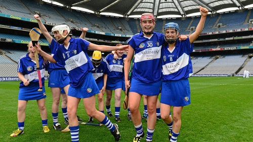 Laois players celebrating their 2015 All-Ireland premier junior title victory