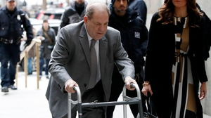Harvey Weinstein arriving at New York State Supreme Court today