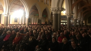 Crowds attended mass at the Church of Saints Stephen and John in Castleisland, Co Kerry