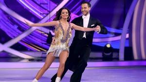 Maura Higgins with her professional partner Alexander Demetriou