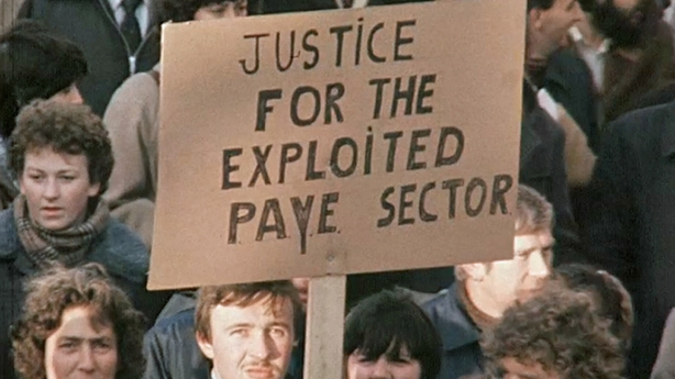 PAYE Protest O'Connell Street, Dublin (1980)