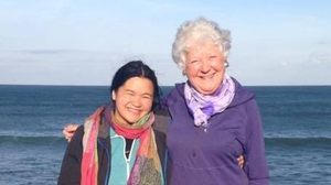 Anseo author Úna-Minh Kavanagh with her mom Noreen