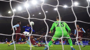 Kelechi Iheanacho scores against Aston Villa