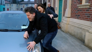 Mairead kicks Damien and accidentally hurts him on Fair City