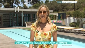 Laura Whitmore appeared on This Morning broadcasting from the Love Island villa in Cape Town