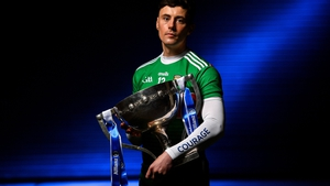 Diarmuid O'Connor with the Irish National Insurance Cup that Mayo won in 2019