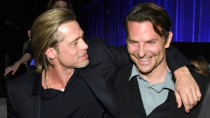 "Brad Pitt and Bradley Cooper at the National Board of Review Annual Awards Gala - ""I got sober because of this guy"""