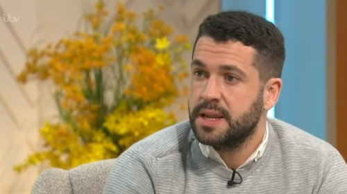 """Shayne Ward - """"We had to tackle such a scary taboo that us guys do not talk - and we're still not talking"""" Screengrab: Lorraine/ITV"""