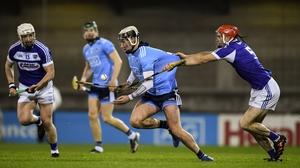 Dublin's Jake Malone breaks clear of Laois' Jack Kelly