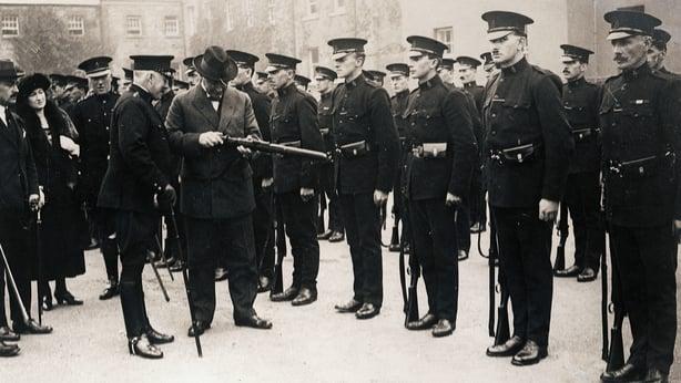 Hamer Greenwood inspecting troops