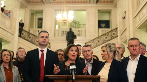 Sinn Féin leader Mary Lou McDonald said the party would re-enter the Stormont Assembly