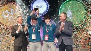 Cormac Harris and Alan O'Sullivan, both 16, took the top prize for their project (Photo: RollingNews.ie)